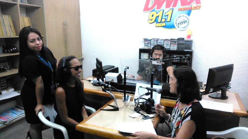 Mariners Naga Practi Coordinator Ms Mary Anne Gantong Extreme Left Answers Questions About On The Job Ojt Trainings Of Mpc Students Over Rmn Dwnx
